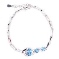 鱼跃心情水晶手链s302094(康琪儿珠宝采用施华洛元素水晶制作) (颜色随机)